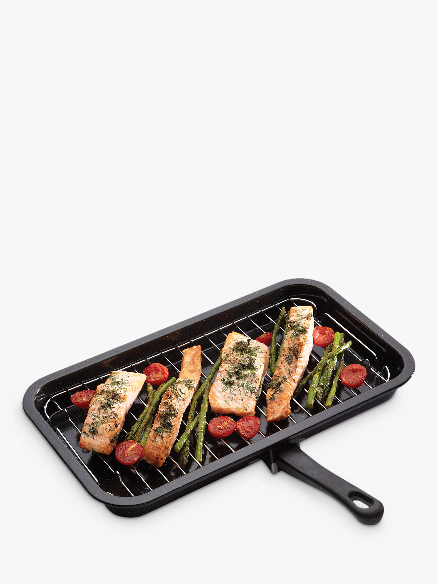 Buy Kitchen Craft Enamel Grill Pan, 40cm Online at johnlewis.com