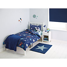 Buy little home at John Lewis Moon & Planets Duvet and Pillowcase Set, Single Online at johnlewis.com