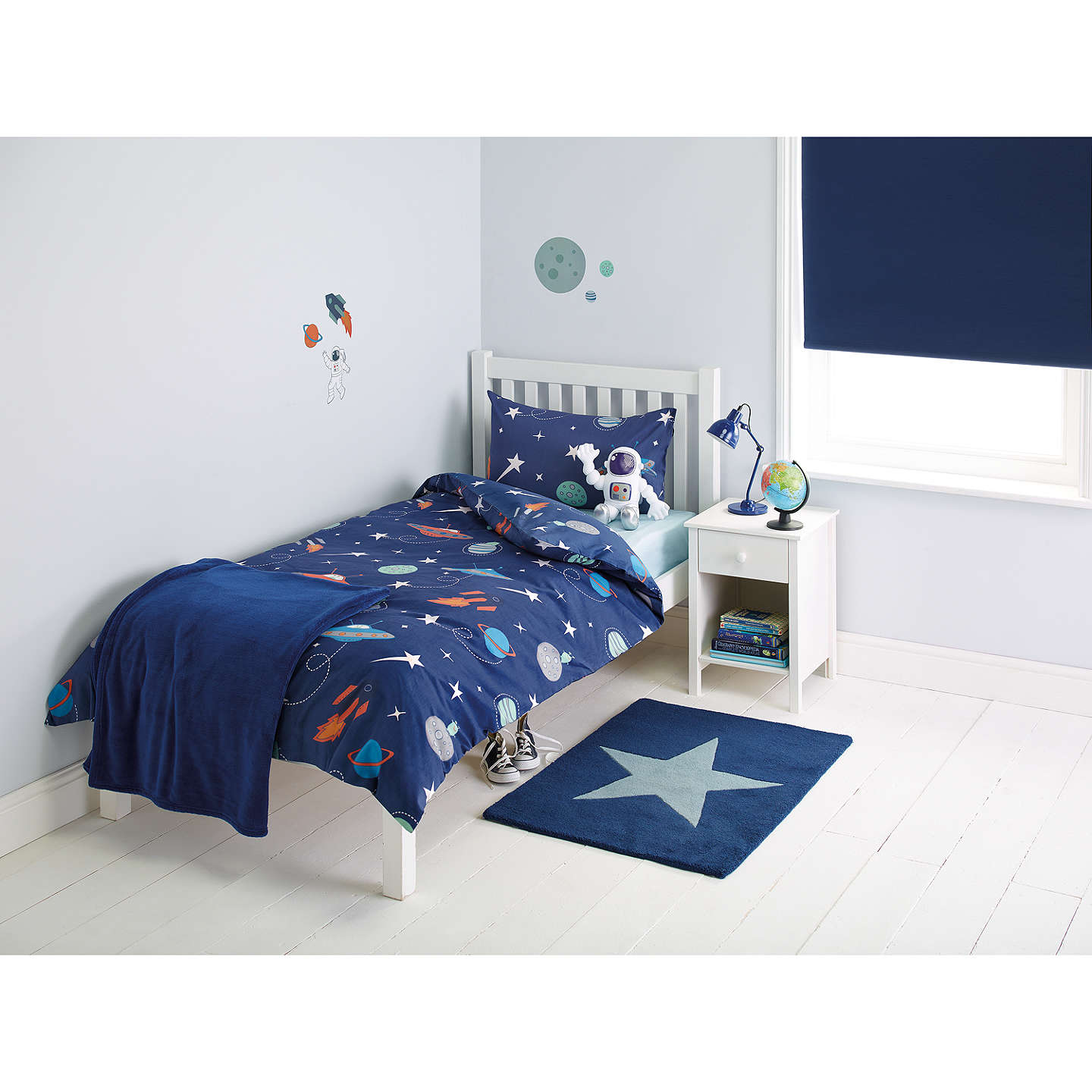 Little Home At John Lewis Moon Planets Duvet And Pillowcase Set Single Online