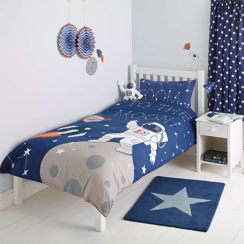 Little Home At John Lewis Moon Back Lique Duvet Cover And Pillowcase Set Single