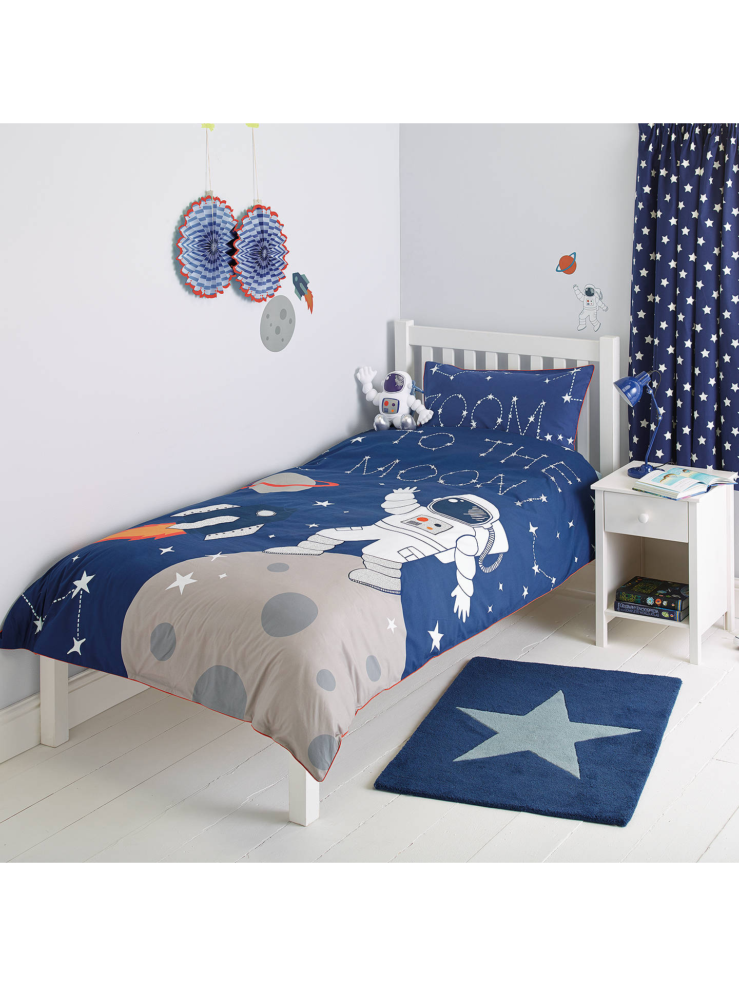 John Lewis Baby Boy Bedroom: Little Home At John Lewis Moon & Back Applique Duvet Cover