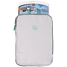 Buy Go Travel 303 Zip Cubes Expandable Bag Packers, LightGrey/Dark Grey Online at johnlewis.com