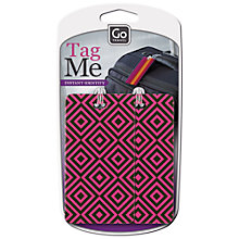 Buy Go Travel 906 Tag Me Patterned Luggage Tag, Multi Online at johnlewis.com