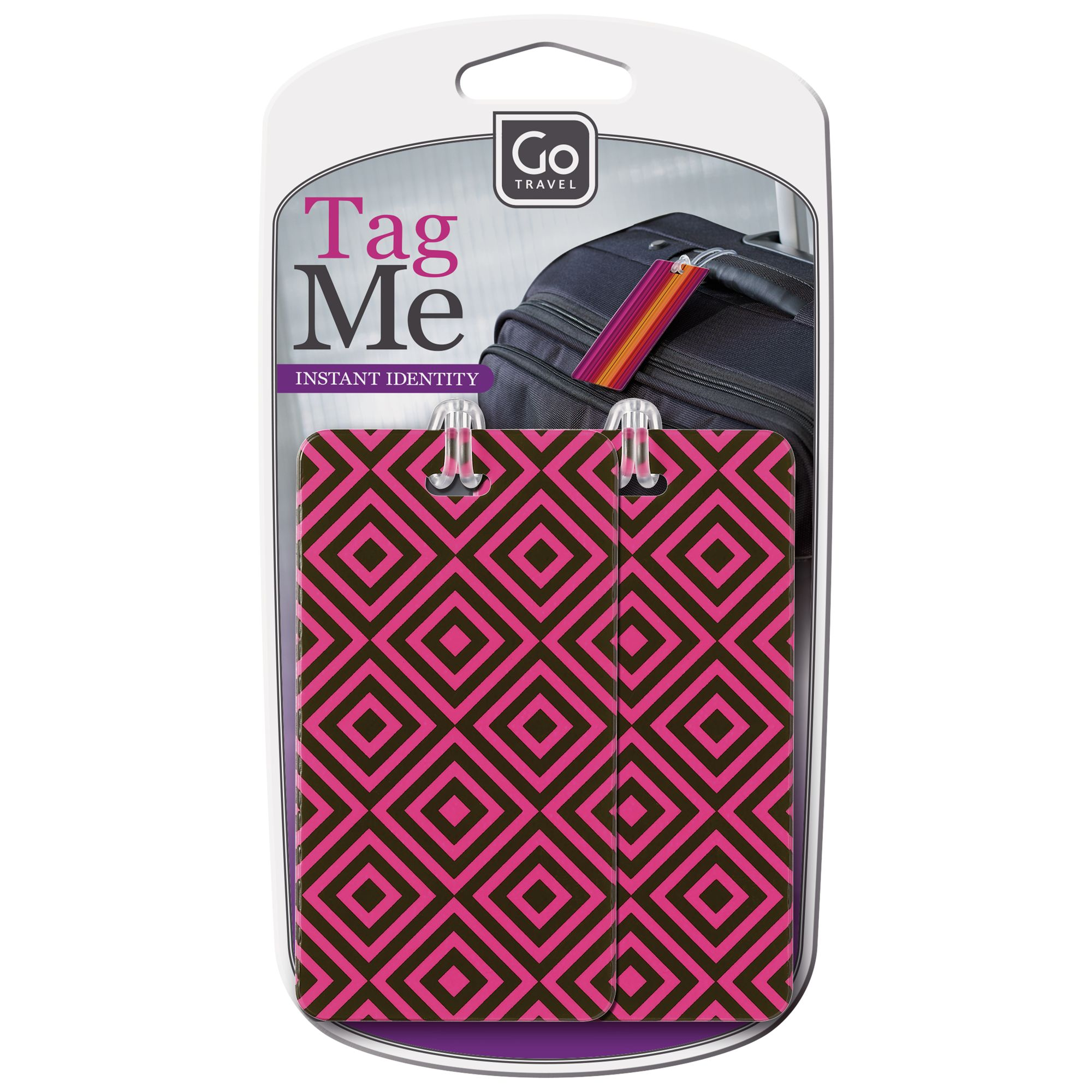 Go Travel Go Travel 906 Tag Me Patterned Luggage Tag, Multi