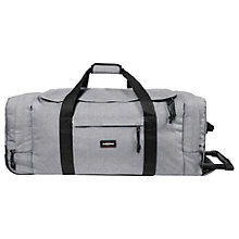 Buy Eastpak Leatherface Large 2-Wheel Duffle Bag, Sunday Grey Online at johnlewis.com