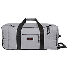 Buy Eastpak Leatherface Medium 2-Wheel Duffle Bag, Sunday Grey Online at johnlewis.com