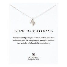 Buy Dogeared Sterling Silver Silver Life Is Magical Unicorn Pendant Necklace, Silver Online at johnlewis.com