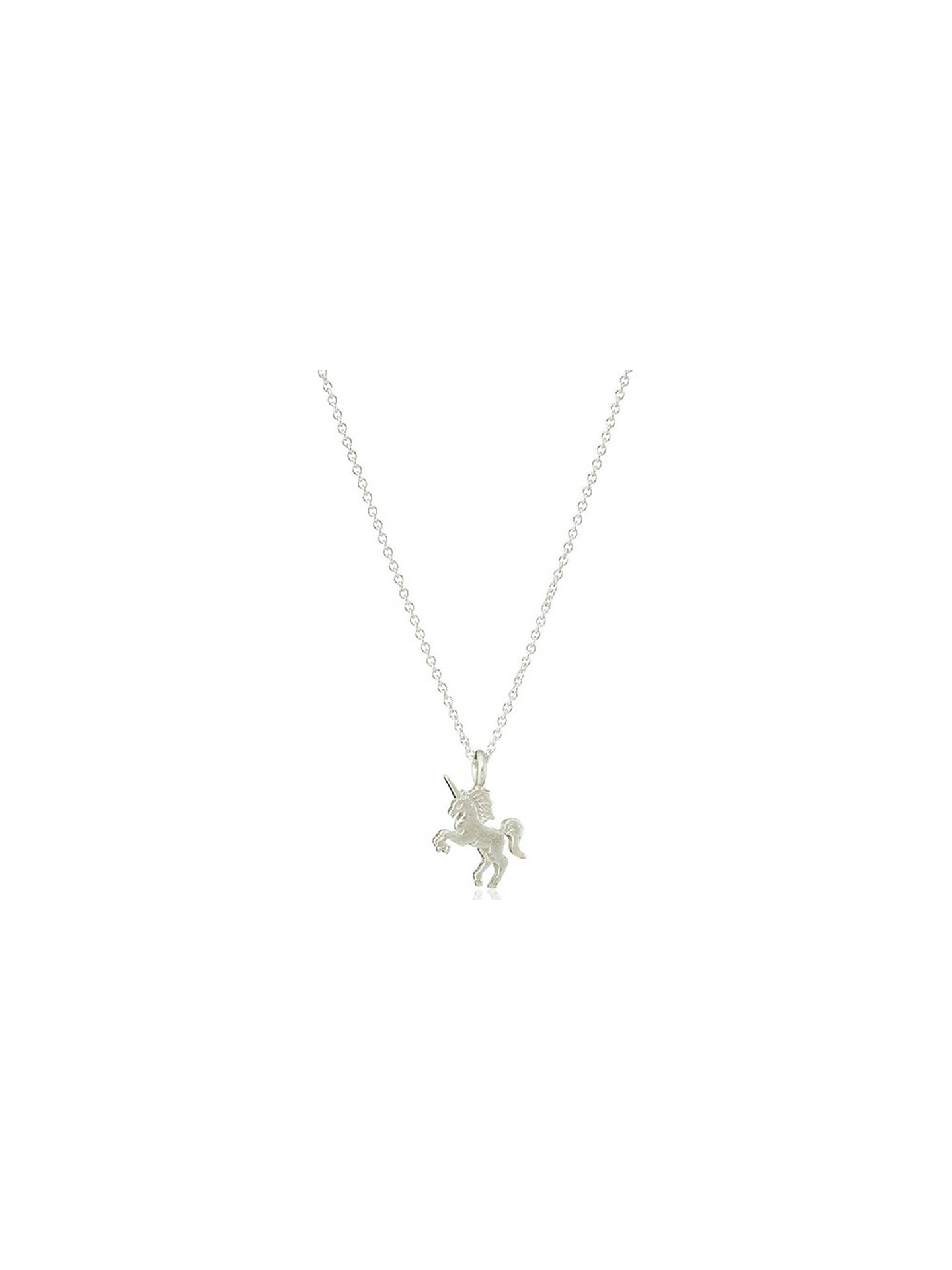 BuyDogeared Sterling Silver Life Is Magical Unicorn Pendant Necklace, Silver Online at johnlewis.com