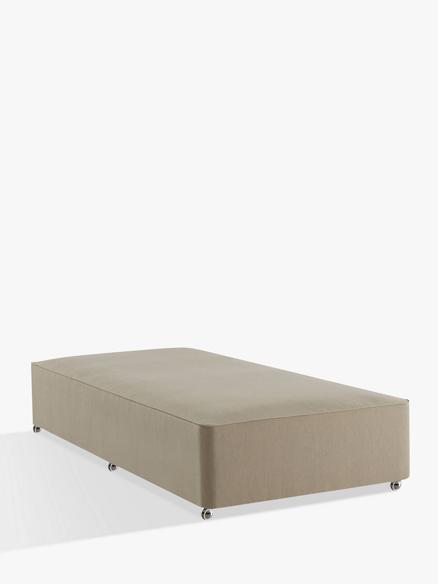 Buy John Lewis & Partners Natural Collection Sprung Divan Base, FSC-Certified (Spruce, Fiberboard), Single, Pebble Online at johnlewis.com