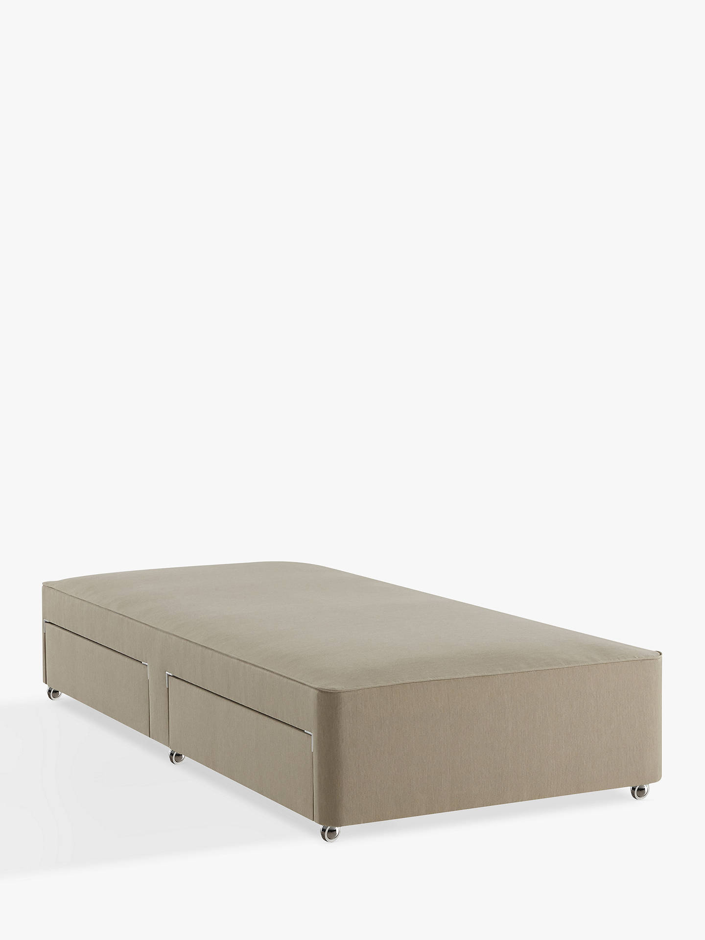 BuyJohn Lewis & Partners Natural Collection Pocket Spring 2 Drawer Divan Storage Bed, FSC-Certified (Spruce, Fiberboard, Plywood), Single, Canvas Pebble Online at johnlewis.com