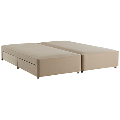 John Lewis Natural Collection 4 Drawer Canvas Covered Sprung Divan Storage Bed, FSC-Certified (Spruce, Fiberboard, Plywood), Super King Size, Pebble
