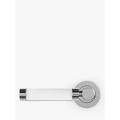 Image of John Lewis & Partners Lever Rose, Glass and Polished Chrome, Pair