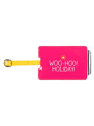 Buy Happy Jackson 'Woo-hoo! Holiday!' Luggage Tag Online at johnlewis.com