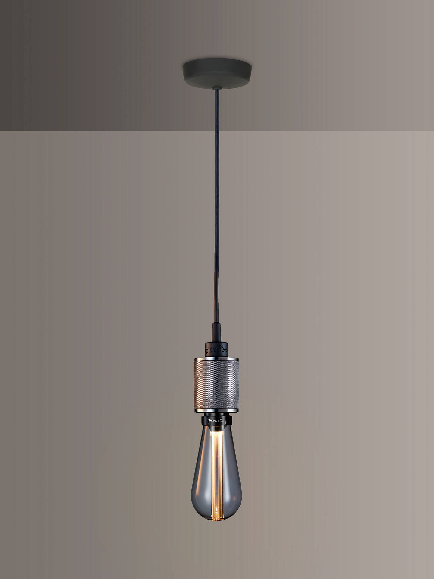 BuyBuster + Punch Heavy Metal ES Pendant Cord Ceiling Light, Steel Online at johnlewis.com