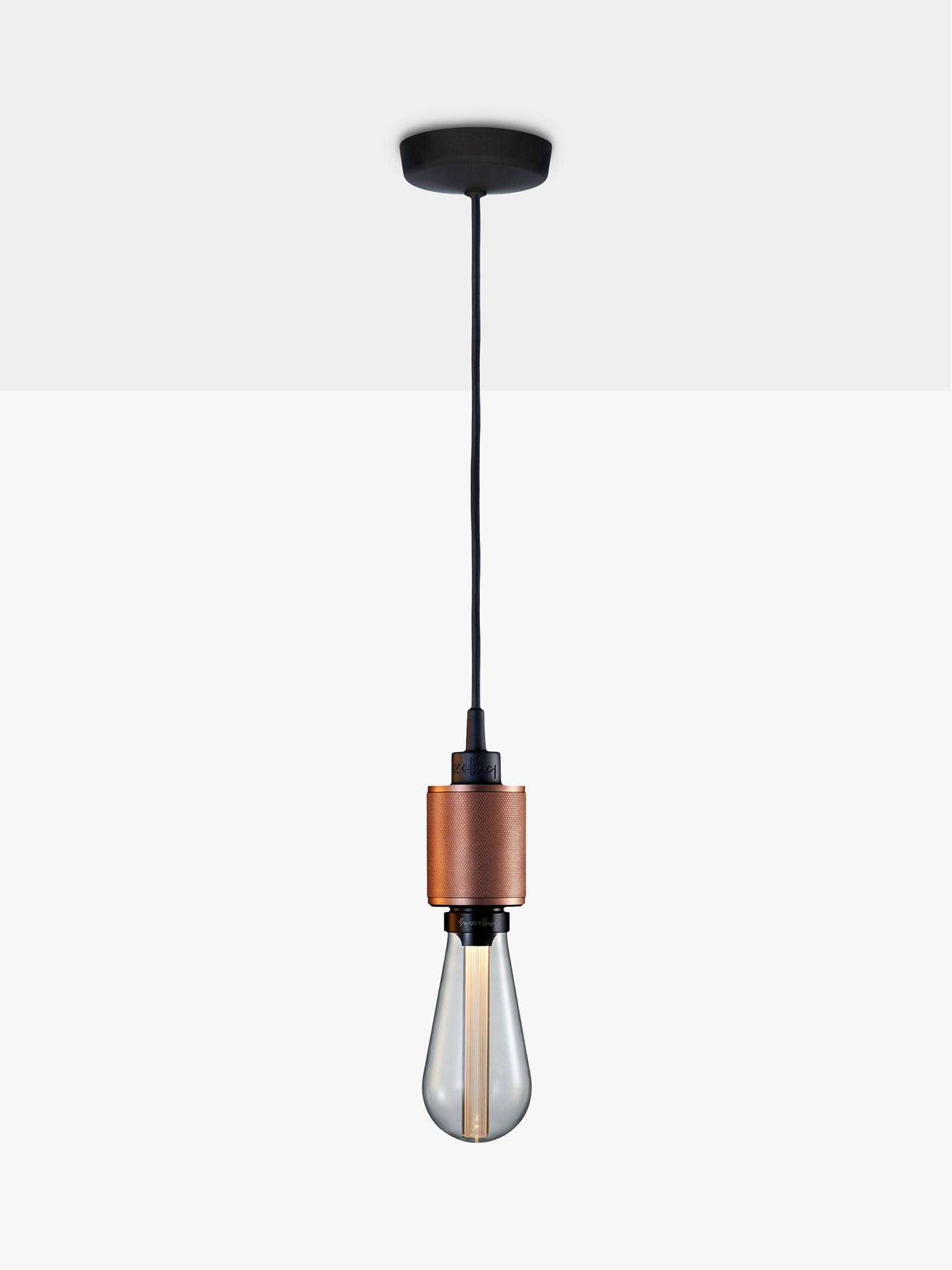 Buy Buster + Punch Heavy Metal ES Pendant Cord Ceiling Light, Rose Copper Online at johnlewis.com
