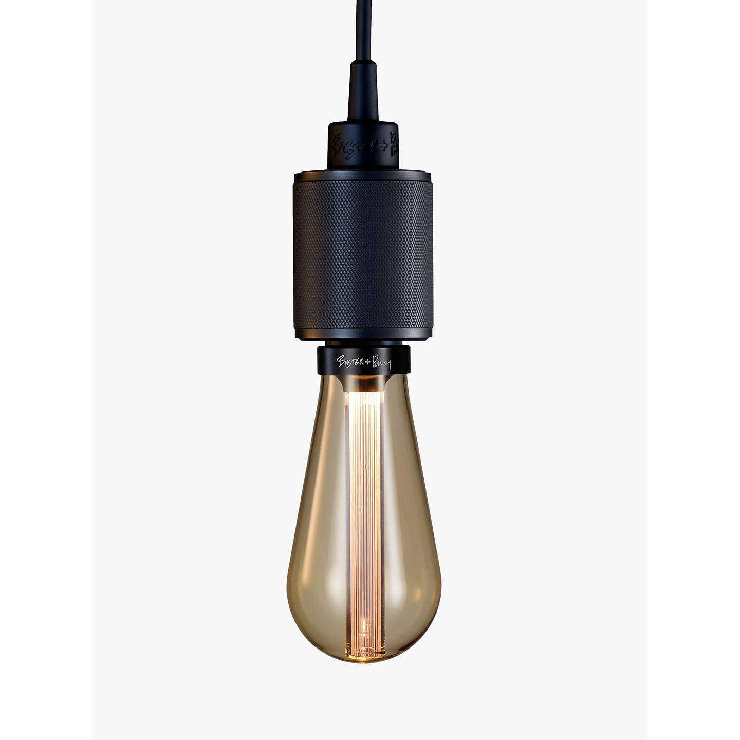 Buster punch heavy metal es pendant cord ceiling light at john lewis buybuster punch heavy metal es pendant cord ceiling light smoked bronze online at johnlewis aloadofball Image collections