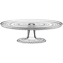 Buy Iittala Kastehelmi Glass Cake Stand, Clear Online at johnlewis.com