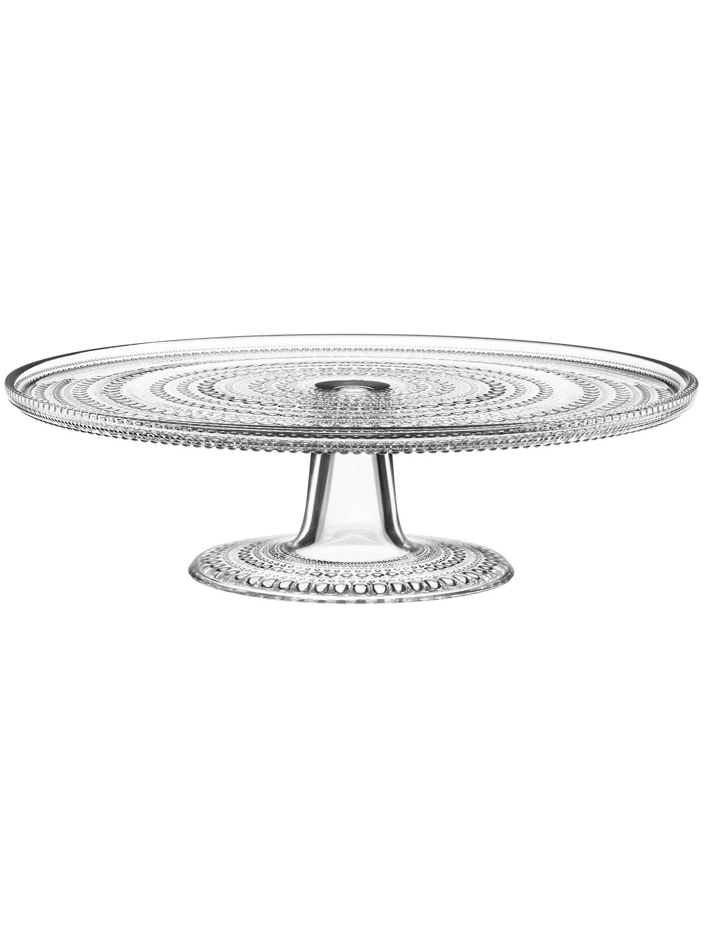 iittala kastehelmi glass cake stand clear at john lewis. Black Bedroom Furniture Sets. Home Design Ideas