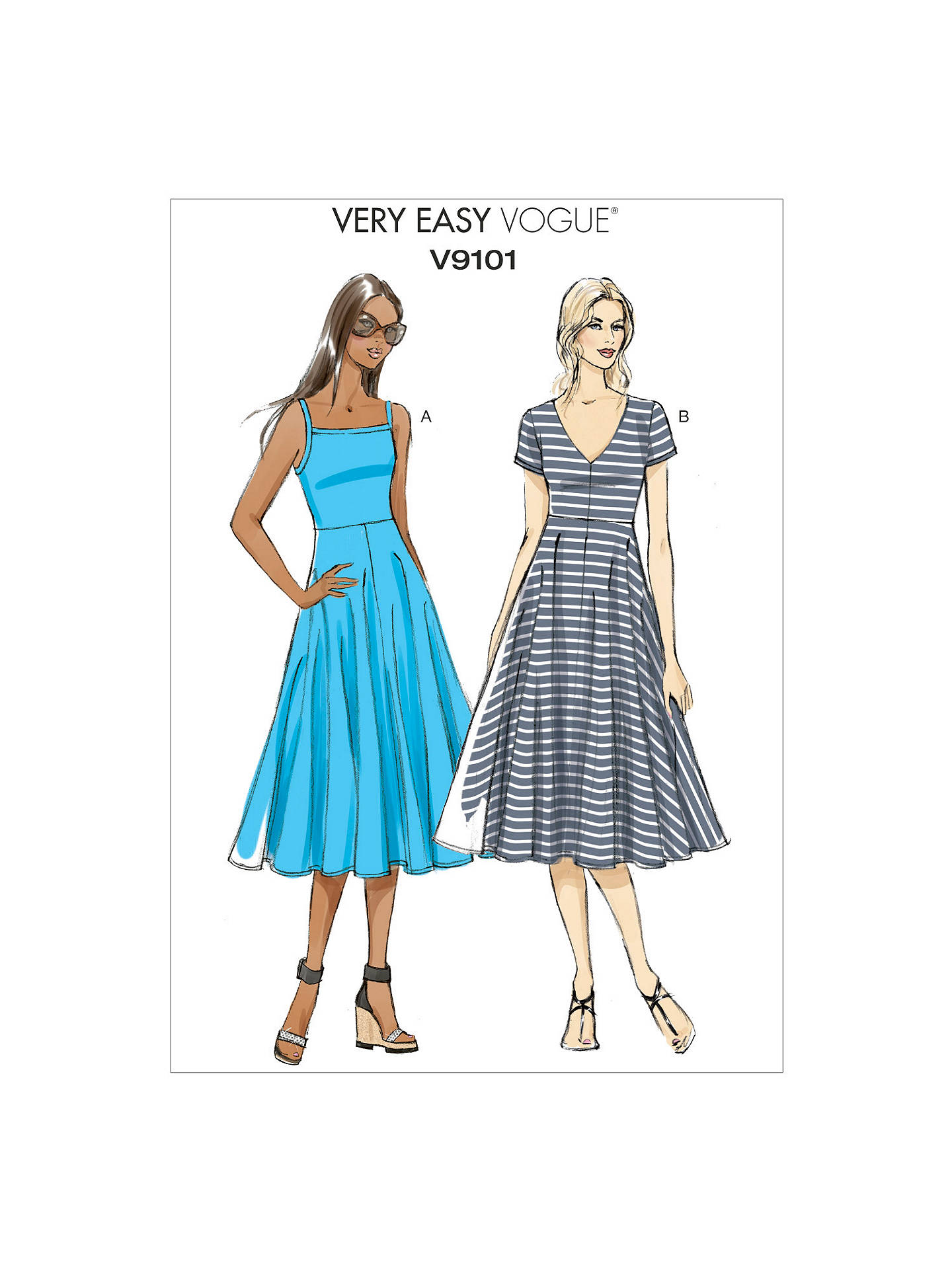 Vogue Very Easy Women S A Line Dress Sewing Pattern 9101