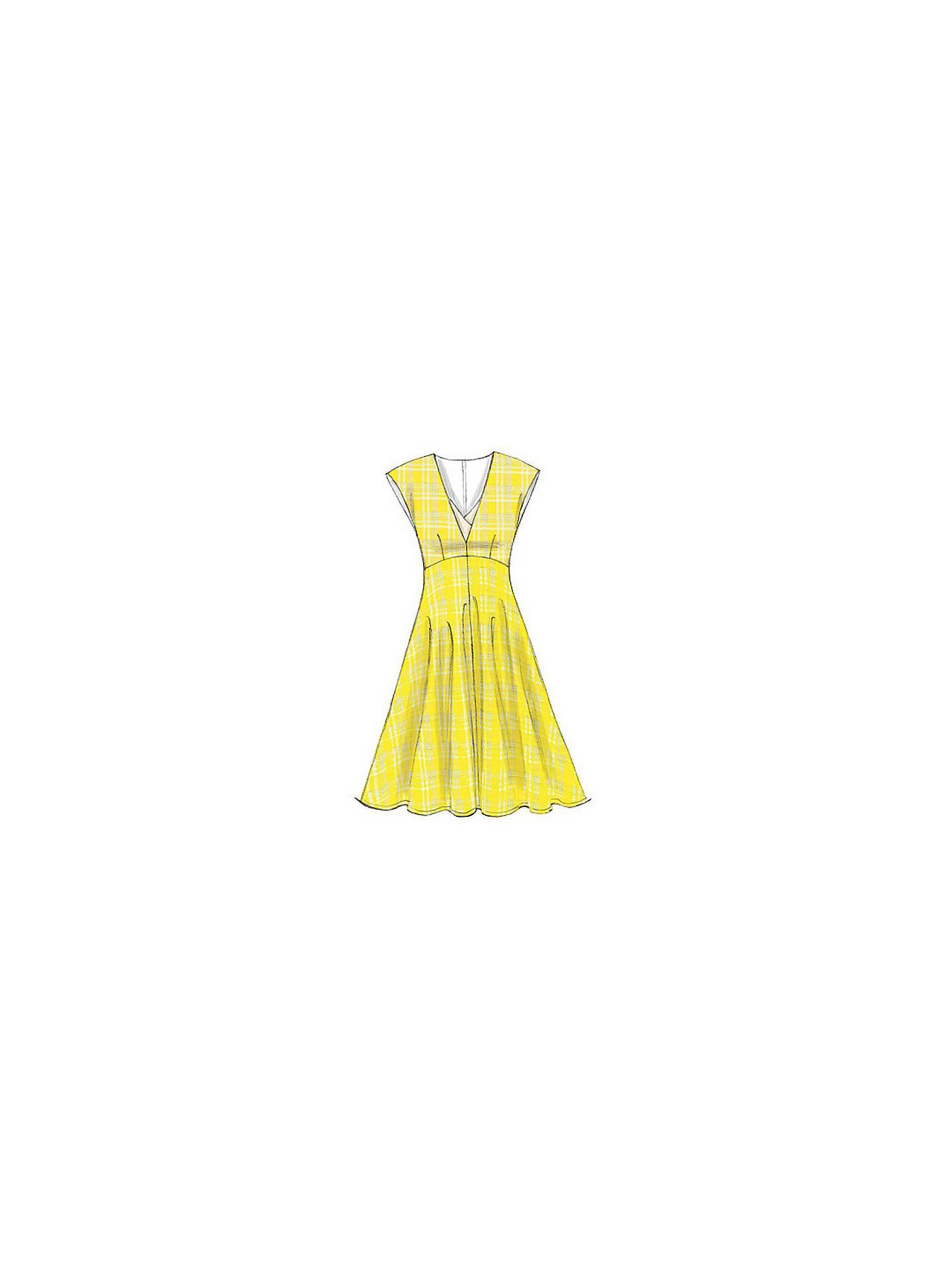 Vogue Women\'s Cap Sleeve Midi Dress Sewing Pattern, 9103 at John ...
