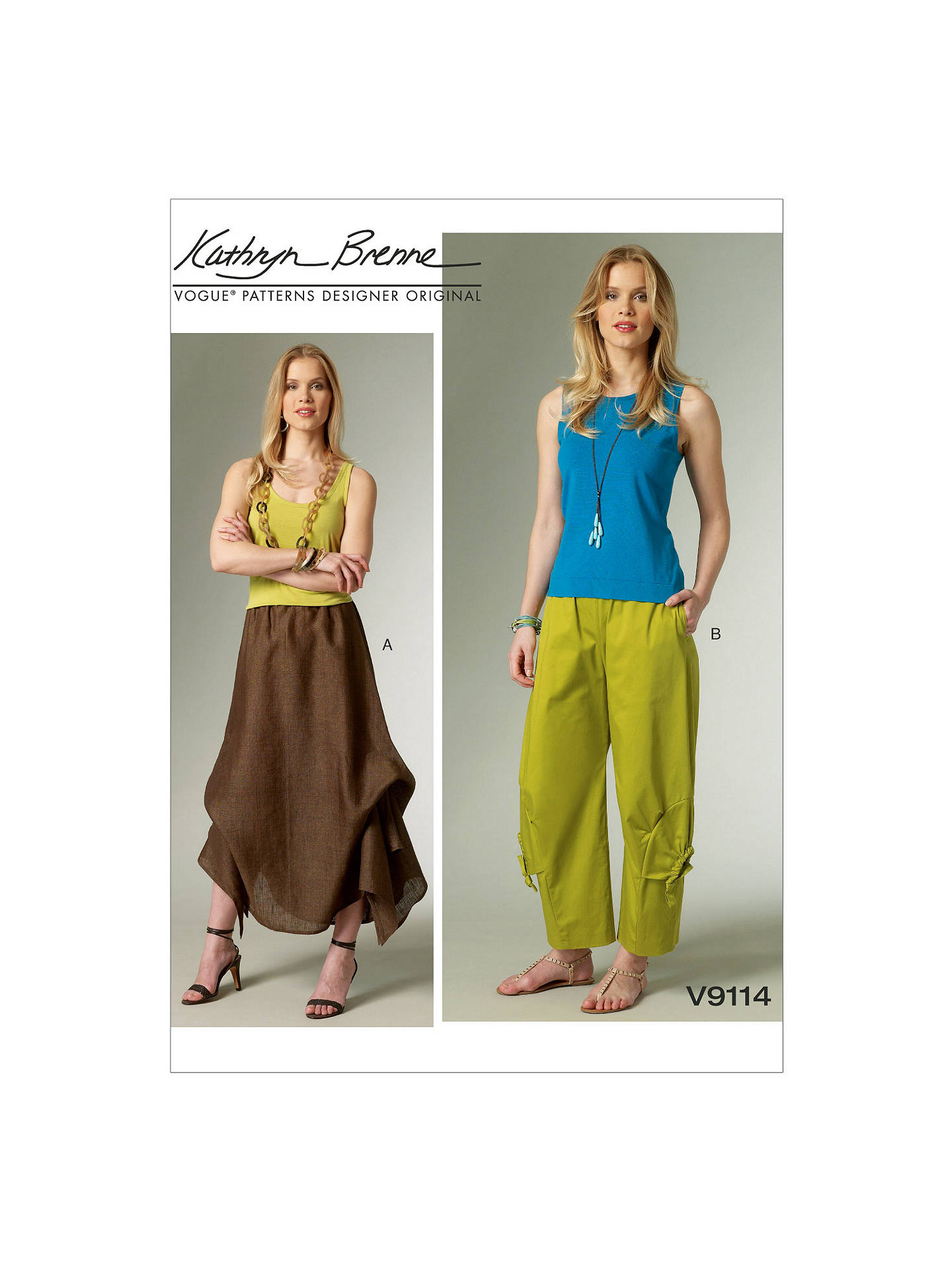 Buy Vogue Kathryn Brenne Women's Skirt and Trousers Sewing Pattern, 9114, ZZ Online at johnlewis.com