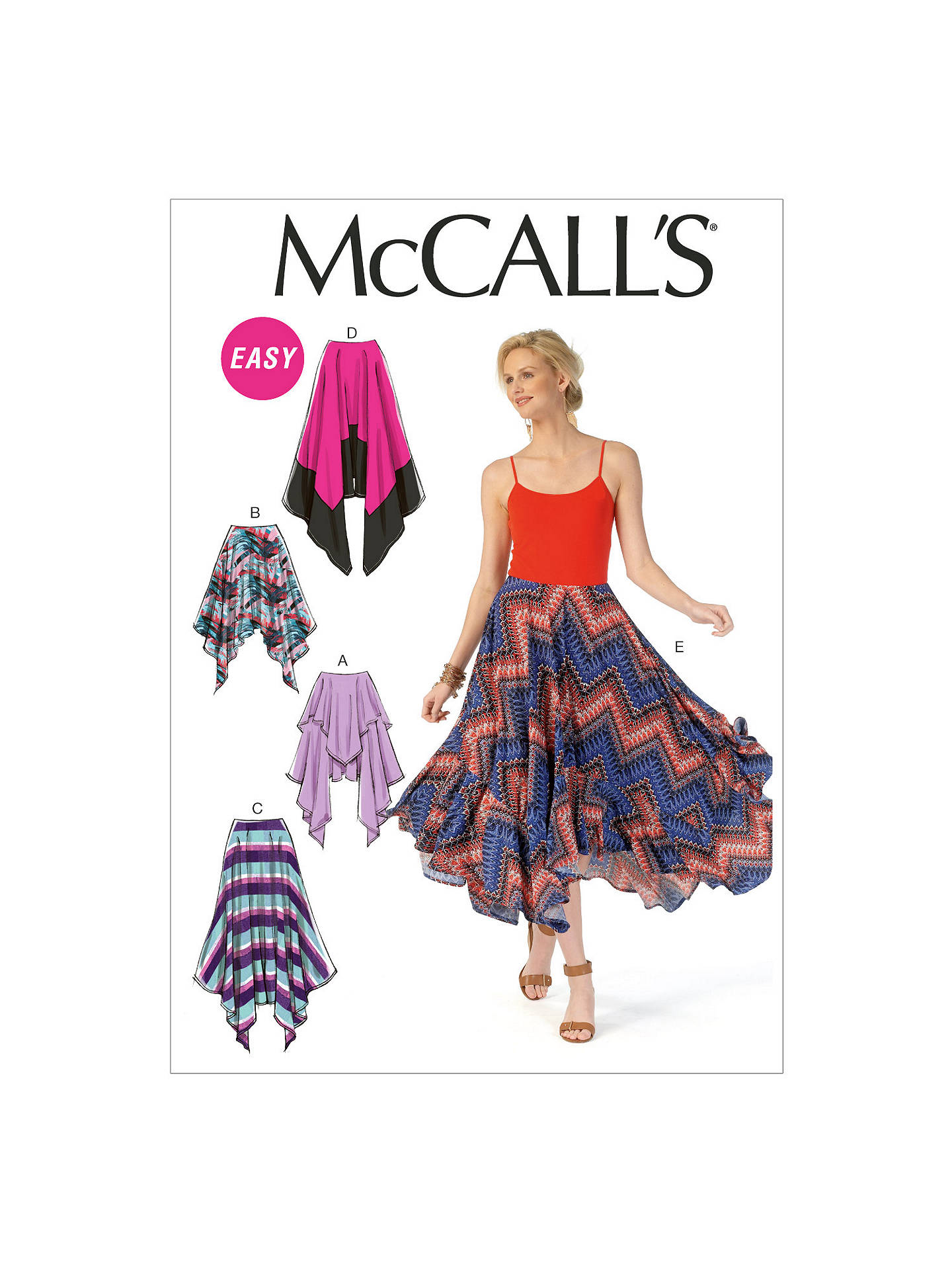 McCall\'s Women\'s Asymmetric Ruffle Detail Skirt Sewing Pattern, 7170 ...