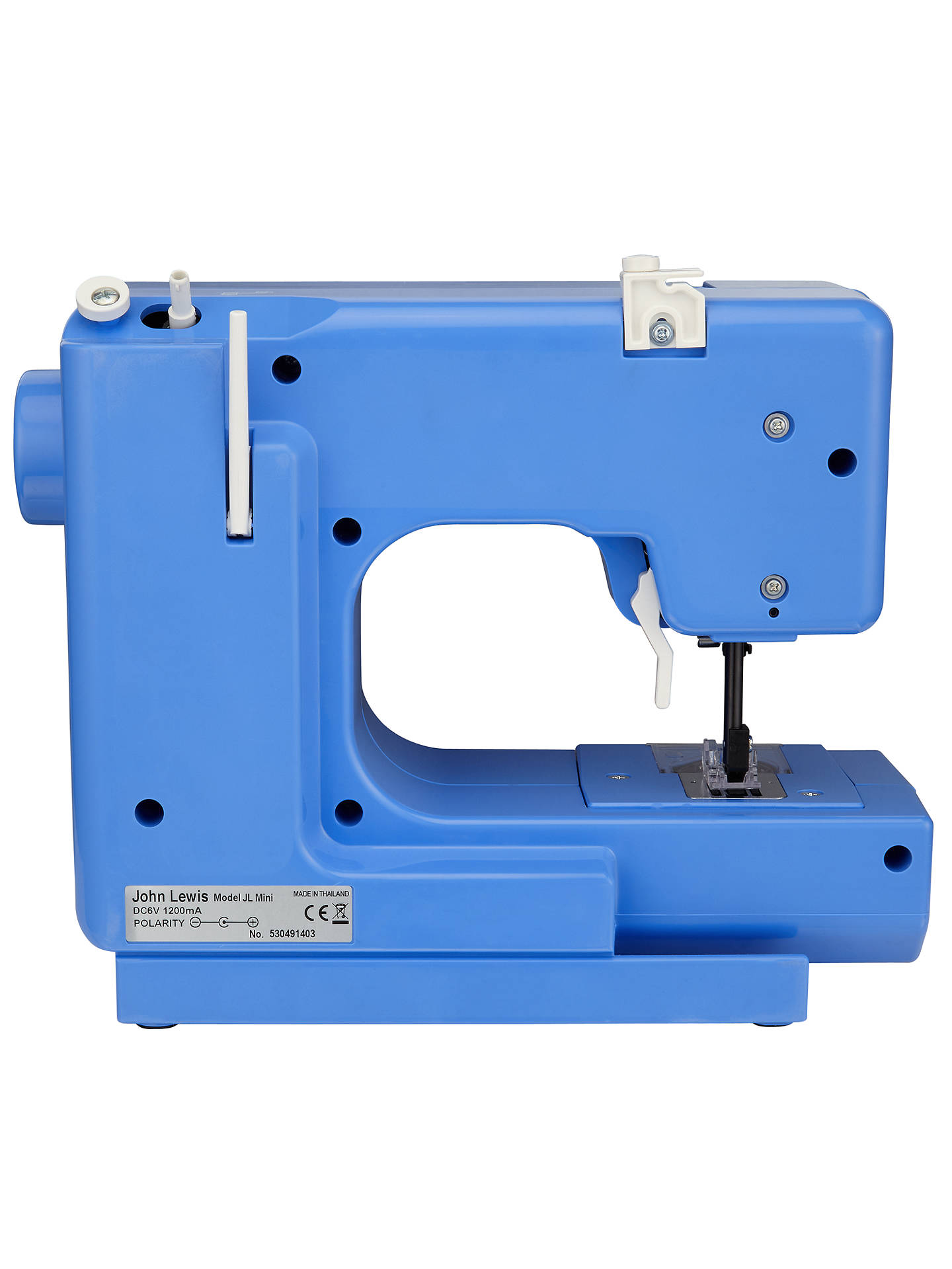Buy John Lewis Mini Sewing Machine, Cornflower Blue Online at johnlewis.com