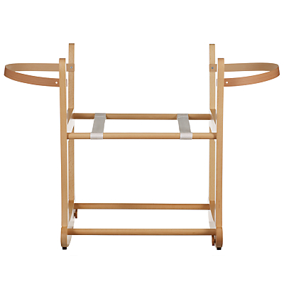 John Lewis Rocking Moses Basket Stand, Natural