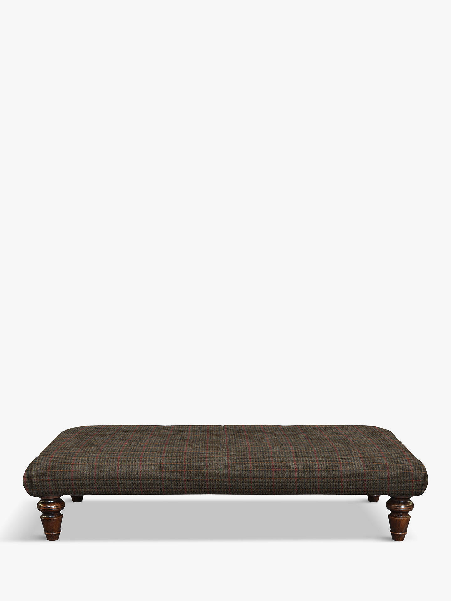 BuyTetrad Lewis Large Buttoned Top Footstool, Harris Tweed Dogtooth Check Online at johnlewis.com