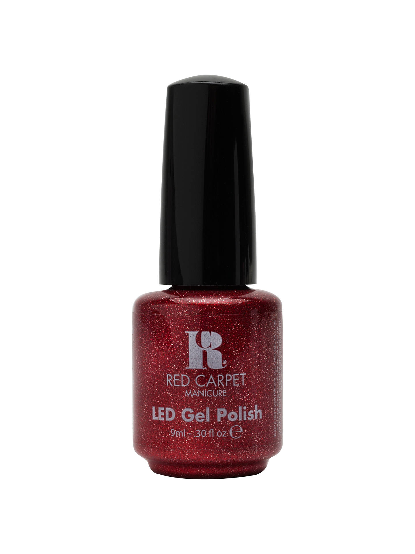 Red Carpet Manicure Led Gel Nail Polish Glitter Metallics 9ml Only In
