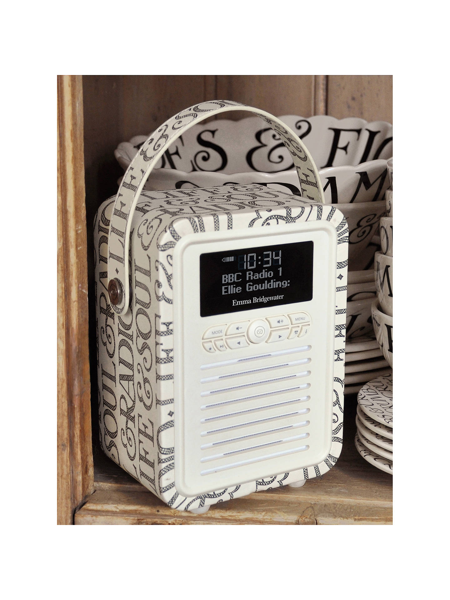 Buy VQ Retro Mini DAB/FM Bluetooth Digital Radio, Emma Bridgewater Patterns, Black Toast Online at johnlewis.com