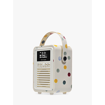 Image of VQ Retro Mini DAB/FM Bluetooth Digital Radio, Emma Bridgewater Patterns