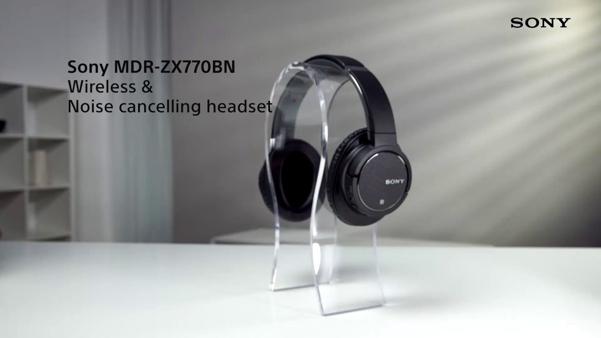 dc2e7729a49 Sony MDR-ZX770BN Noise Cancelling Bluetooth Over-Ear Headphones with Mic/Remote  at John Lewis & Partners