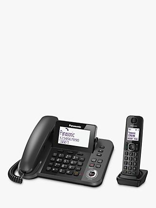 Panasonic KX-TGF320EM Combo Phones and Answering Machine with Nuisance Call Blocker, Single DECT
