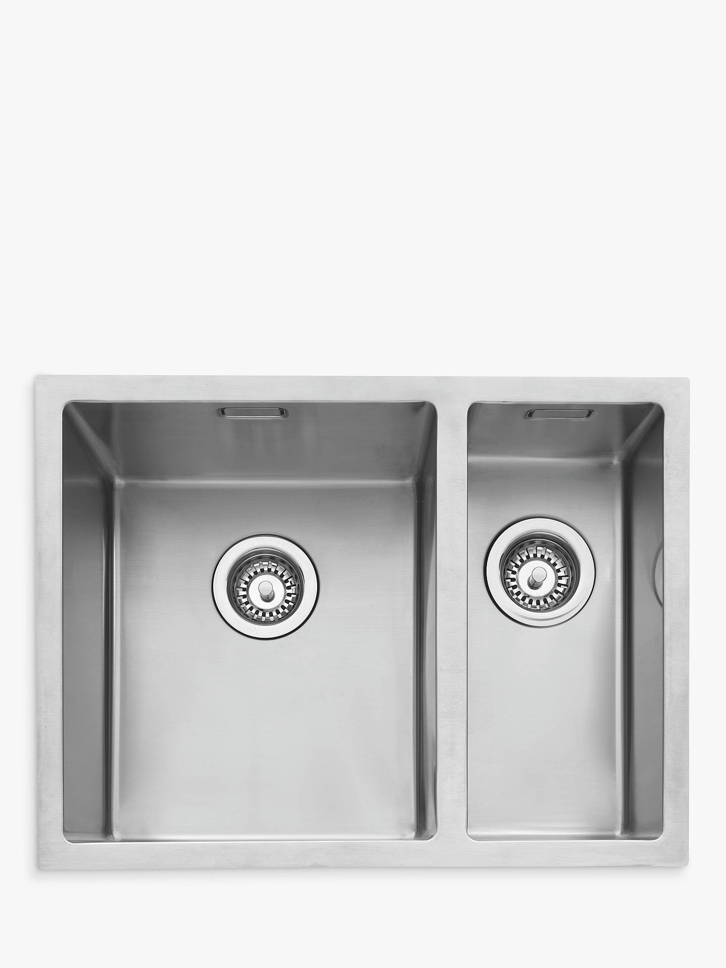 BuyJohn Lewis & Partners Undermount 1.5 Right Hand Bowl Kitchen Sink, Stainless Steel Online at johnlewis.com
