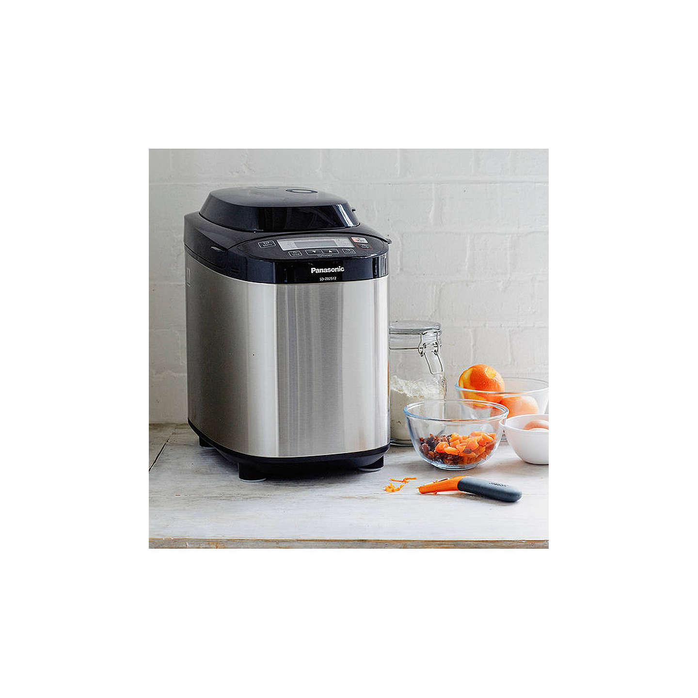 BuyPanasonic SD-ZB2512KXC Bread Maker, Stainless Steel Online at johnlewis.com
