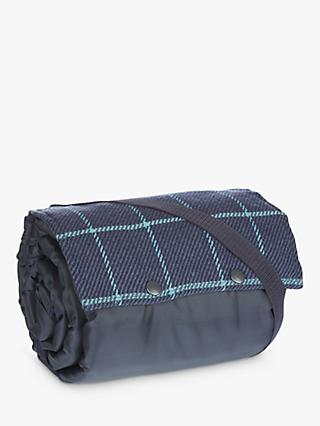 John Lewis & Partners Picnic Rug, Green and Navy