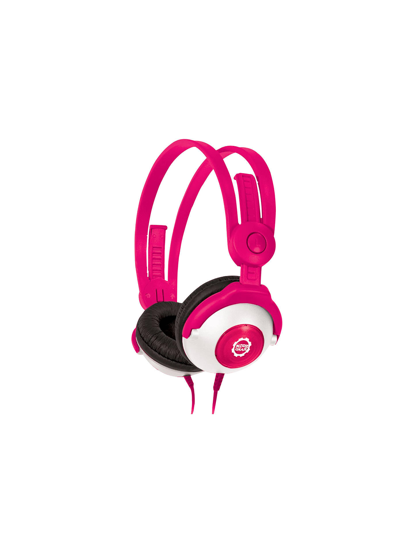 BuyKidz Gear Volume Limiting On-Ear Headphones For Children, Pink Online at johnlewis.com