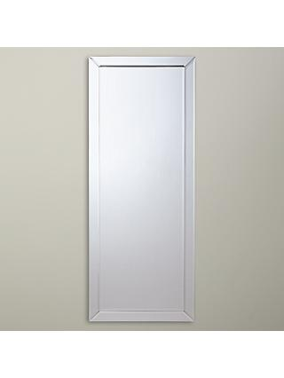 John Lewis & Partners Bevel Simple Mirror, 150 x 60cm, Clear