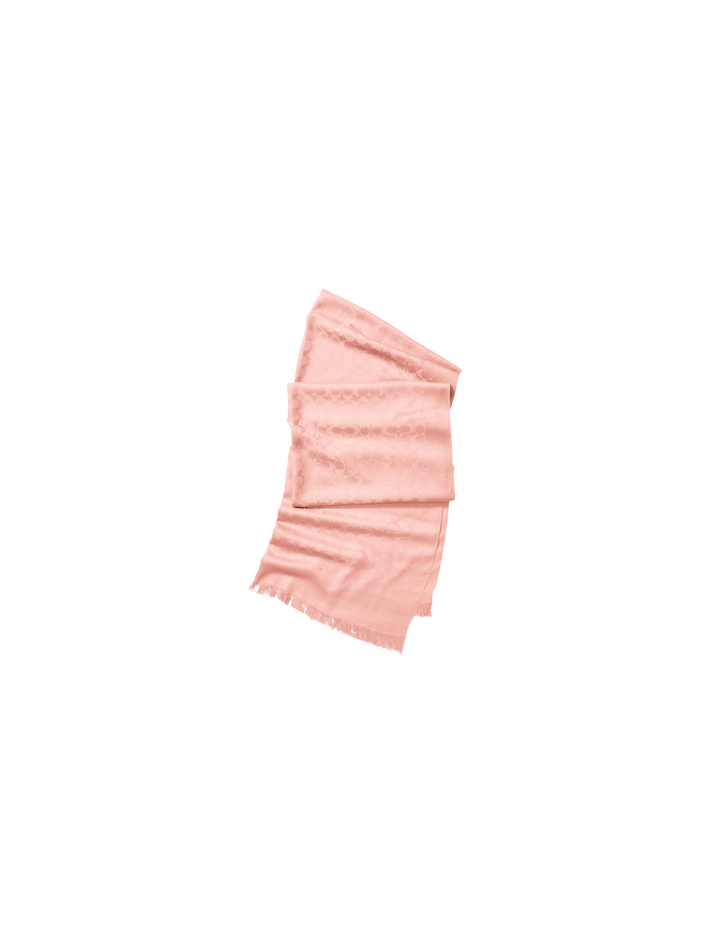 55ca6589745b7f Buy Coach Signature C Stole Scarf, Blush Online at johnlewis.com ...