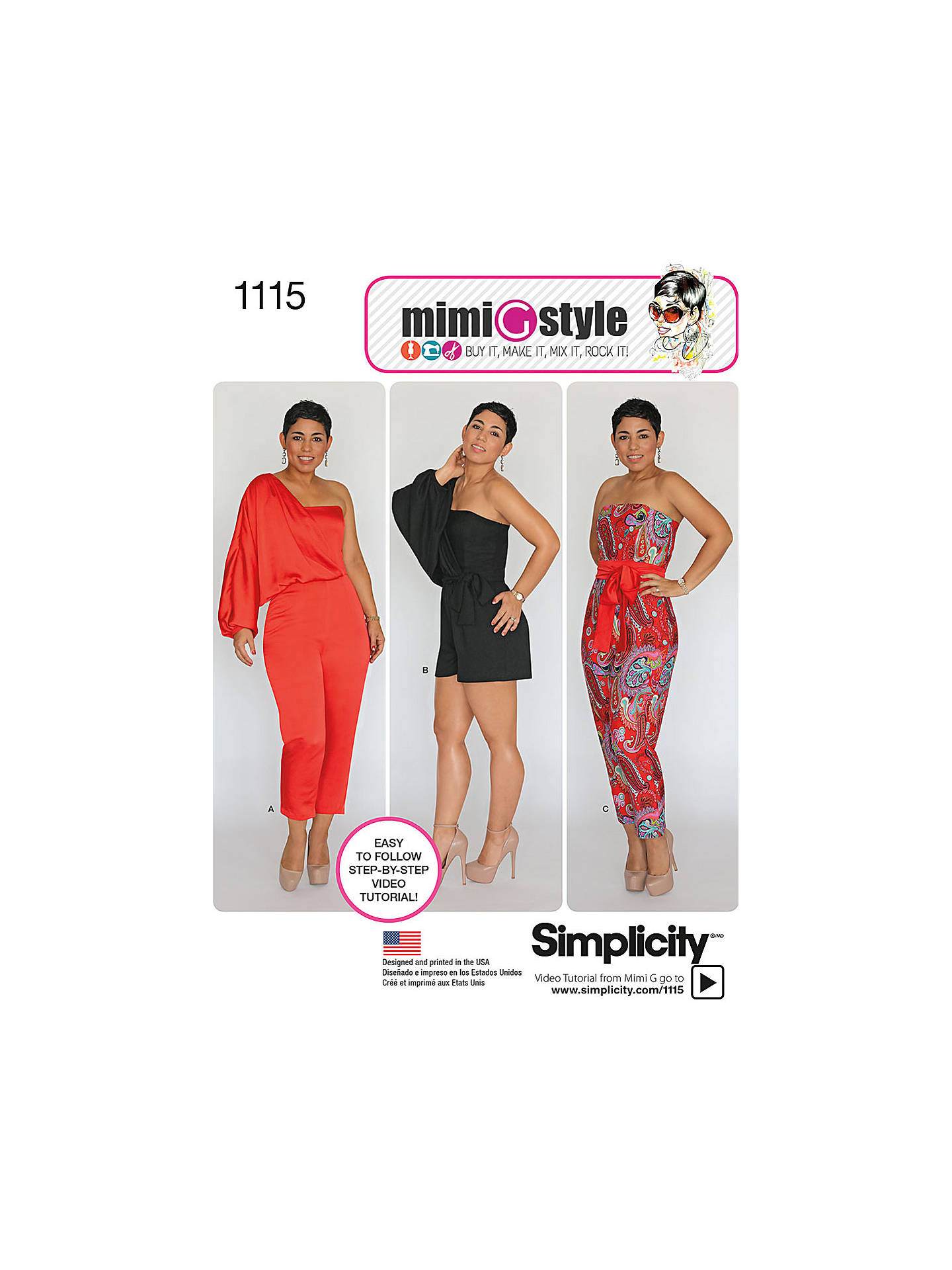 Simplicity Women\'s Playsuit and Jumpsuit Sewing Pattern, 1115 at ...
