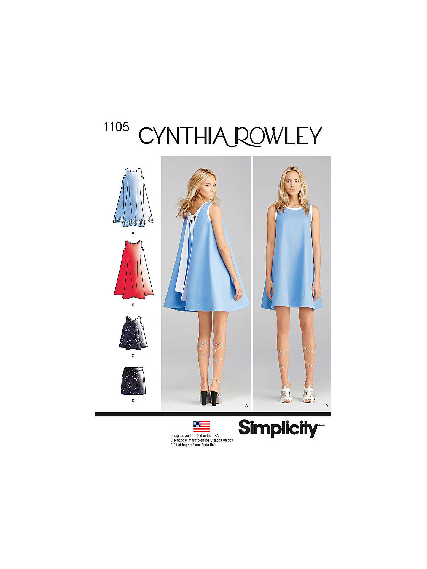 Simplicity By Cynthia Rowley Women S Sleeveless A Line Dress Top And Mini Skirt Sewing