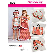 Buy Simplicity Girls' Clothes and Accessories Sewing Pattern, 1129 Online at johnlewis.com