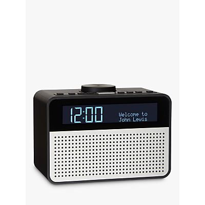 John Lewis Astro DAB+/FM Digital Clock Radio with Alarm & LCD Display