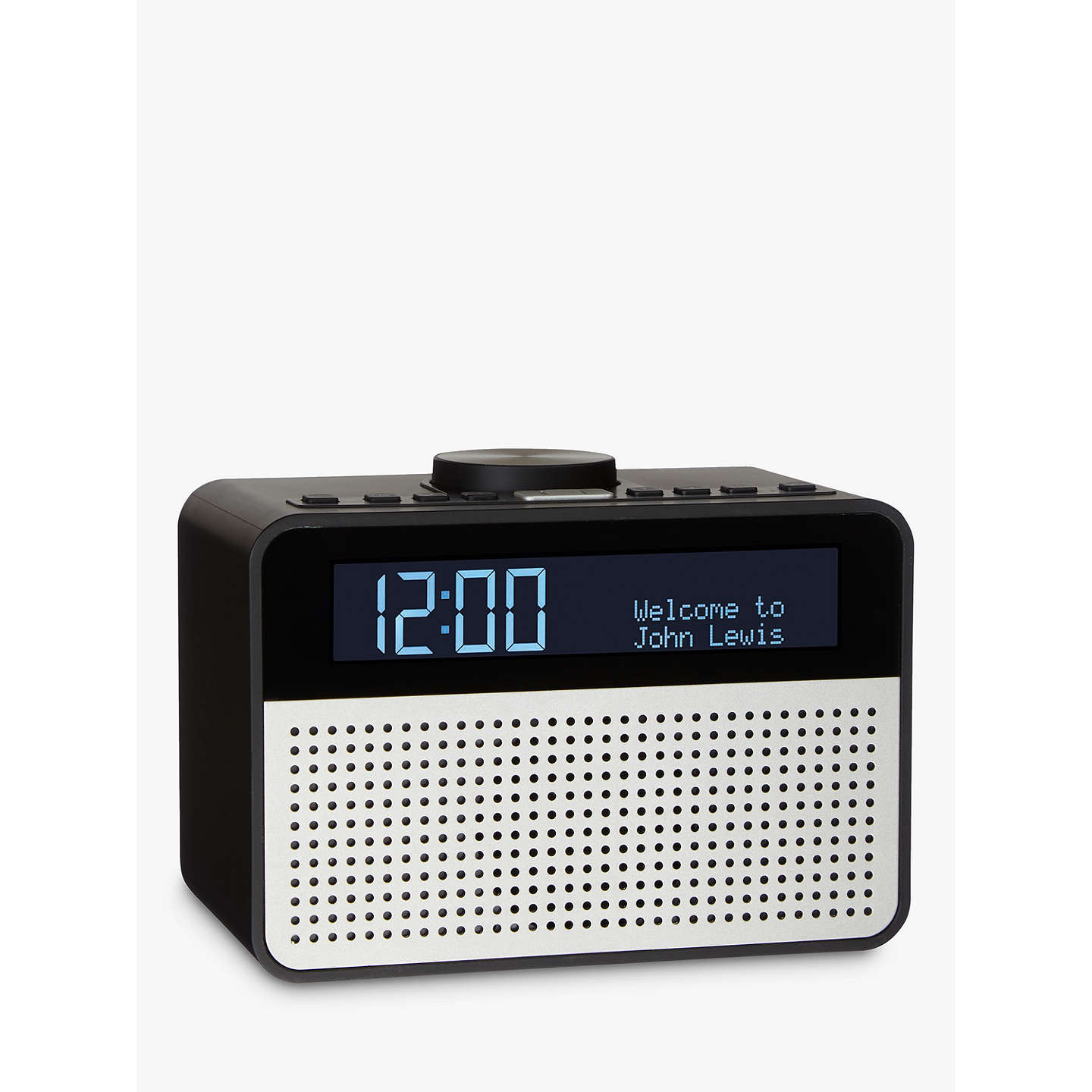 BuyJohn Lewis Astro DAB FM Digital Clock Radio With Alarm LCD Display Black