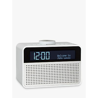 john lewis astro dab fm digital clock radio with alarm lcd display radios. Black Bedroom Furniture Sets. Home Design Ideas
