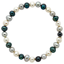 Buy Finesse Stretch Pearl Bracelet, White/Blue Online at johnlewis.com