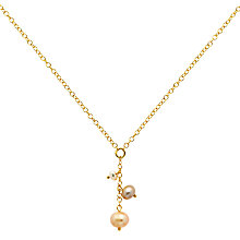 Buy Finesse Pearl Chain Necklace, Gold Online at johnlewis.com
