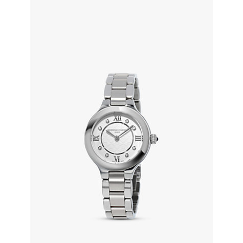 Buy Frédérique Constant FC-200WHD1ER36B Women's Classics Delight Diamond Stainless Steel Bracelet Watch, Silver Online at johnlewis.com