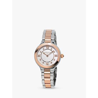 Frédérique Constant FC-200WHD1ER32B Women's Classics Delight Diamond Two Tone Bracelet Strap Watch, Silver/Rose Gold